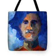 Abstract Thinking Man Portrait Tote Bag