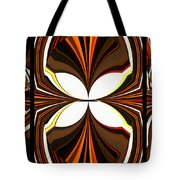 Abstract Triptych - Brown - Orange Tote Bag