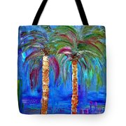 Abstract Venice Palms Tote Bag