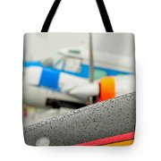 Abstract View Of Airshow During A Rain Storm Tote Bag