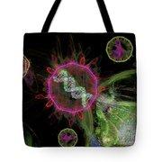 Abstract Virus Budding 2 Tote Bag