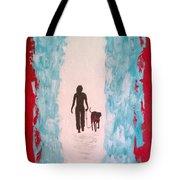 Abstract Walk Tote Bag