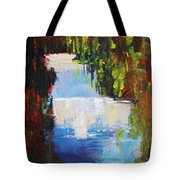 Abstract Waterfall Painting Tote Bag