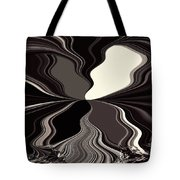 Abstract Wings In Black Tote Bag