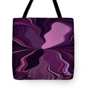 Abstract Wings In Plum Tote Bag
