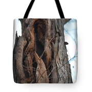 Abstract Winter Tree Tote Bag