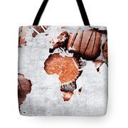 Abstract World Map - Chocolates - Confections - Candy Shop Tote Bag