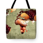 Abstract World Map - Harvest Bounty - Farmers Market Tote Bag