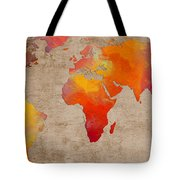 Abstract World Map - Rainbow Passion - Digital Painting Tote Bag