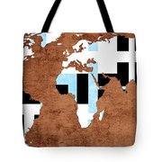 Abstract World Map - Which Way Is Up - Painterly Tote Bag