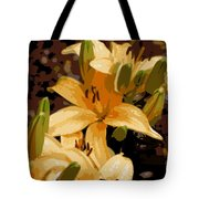 Abstract Yellow Asiatic Lily - 2 Tote Bag