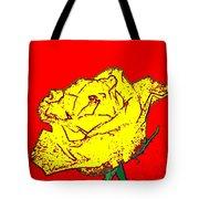 Abstract Yellow Rose Tote Bag