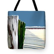 Abstracted Beach Dune Fence Tote Bag