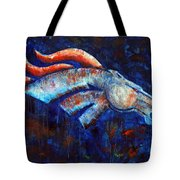 Abstracted Bronco Tote Bag