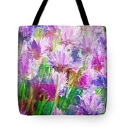 Abstracted Clovers Tote Bag