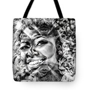 Abstracted Lady Tote Bag