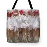 Abstracted White Tote Bag