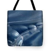 Abstraction In Blue Tote Bag