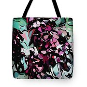 Abstraction Red And Green Tote Bag