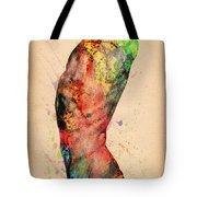 Abstractiv Body - 3 Tote Bag by Mark Ashkenazi