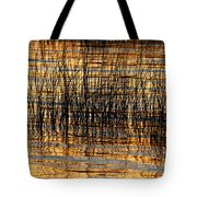 Abstract Reed And Water Patterns Tote Bag
