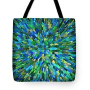 Abstrract Cubes Blue Tote Bag