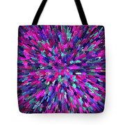 Abstrract Cubes Violet Tote Bag
