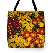 Abundance Of Yellows Reds And Oranges Tote Bag