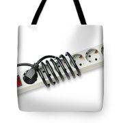 Ac Power Plug And Sockets Tote Bag