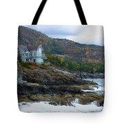 Acadia Seaside Mansion Tote Bag