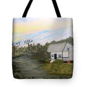 Acadian Home On The Bayou Tote Bag