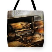 Accountant - The Adding Machine Tote Bag by Mike Savad