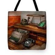 Accountant - Typewriter - The Accountants Office Tote Bag by Mike Savad