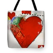 Ace Of Hearts 8-52 Tote Bag by Cliff Spohn