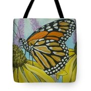 Aceo Monarch On Wild Grey Headed Coneflower Tote Bag