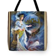 Achaemenian Lady Persian Miniature Painting  Tote Bag
