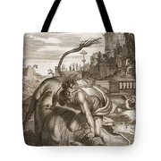 Achelous In The Shape Of A Bull Tote Bag by Bernard Picart