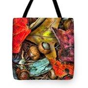 Acorns And Leaves Tote Bag