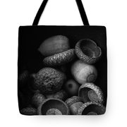 Acorns Black And White Tote Bag