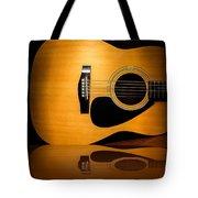 Acoustic Guitar Reflected Tote Bag