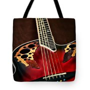 Acoustical Red Tote Bag
