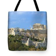 Acropolis Of Athens Tote Bag
