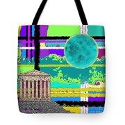 Acropolis Plaid Tote Bag