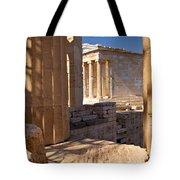 Acropolis Temple Tote Bag