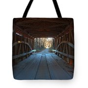 Across The Bridge And Through The Woods Tote Bag
