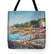 Across The Bridge Tote Bag by Joy Nichols