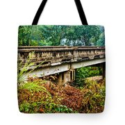 Across The Old Bridge Tote Bag