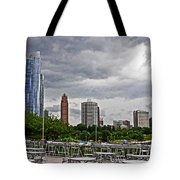 Across The Tables Tote Bag
