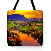 Across The Valley Tote Bag by Stephen Anderson