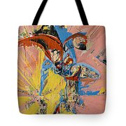 Action Abstraction No. 14 Tote Bag